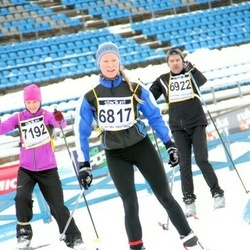Finlandia-hiihto - Laura Seppänen (6817), Jouko Ahola (6922), Mari Seppänen (7192)