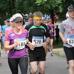 Helsinki Half Marathon - Tuure Koski (635), Jyrki Kuosmanen (670), Julia Pöyry (1182)