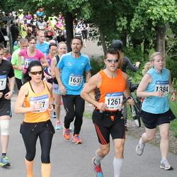Helsinki Half Marathon - Olli Kaven (547), Anne Luukkonen (827), Mika Rubanovitsch (1261), Damiano Vesentini (1637)