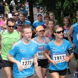 Helsinki Half Marathon - Jarno Mehtiö (880), Saku Ruus (1273), Tuuli Talvitie (1917)