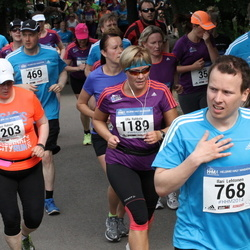 Helsinki Half Marathon - Ilari Lehtonen (768), Ulla Rahkola (1189), Kirsi Ratinen (1203)
