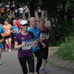 Helsinki Half Marathon - Eija Kutramoinen (673), Tuomo Lahti (710), Päivikki Vuollo (1703)