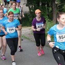 Helsinki Half Marathon - Karita Lampi (734), Elina Luukkainen (824), Kirsi Naisniemi (954), Kirsi Parkkonen (1072)