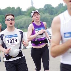 Helsinki Half Marathon - Tuomas Ojanen (1029), Maija Ojanen (1030)
