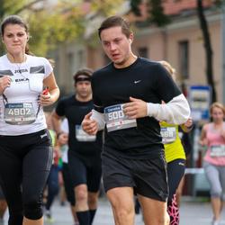 11th Danske Bank Vilnius Marathon - Živile Jablonskyte (4902), Justinas Raulušaitis (5007)