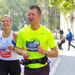 11th Danske Bank Vilnius Marathon - Tomas Žolnerukas (1031), Jolanta Škirutiene (2837)