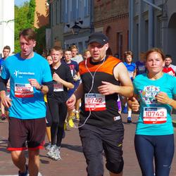 11th Danske Bank Vilnius Marathon - Gediminas Venskunas (10367), Julius Bagdžiunas (10742), Lina Bagdžiuniene (10743)