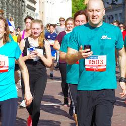 11th Danske Bank Vilnius Marathon - Karolis Šileika (11503), Greta Obadauskaite (11506), Akvile Bužinskaite (11530)