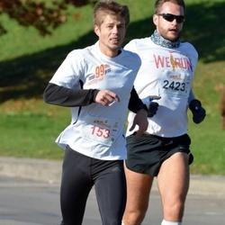 """Vilnius 10 km run, """"Run with Živilė Balčiūnaitė"""". - Dmitrij Malinin (153), Mindaugas Žilys (2423)"""