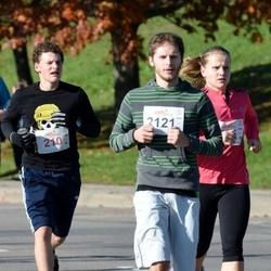 """Vilnius 10 km run, """"Run with Živilė Balčiūnaitė"""". - Paulius Lukošiūnas (210), Marius Tamošiūnas (2121)"""
