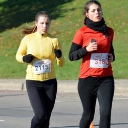 """Vilnius 10 km run, """"Run with Živilė Balčiūnaitė"""". - Salomėja Venzlauskaitė (318), Nijolė Gagilaitė (2115)"""