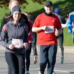 """Vilnius 10 km run, """"Run with Živilė Balčiūnaitė"""". - Monika Andropikė (387), Martynas Špokas (2204)"""