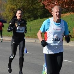 """Vilnius 10 km run, """"Run with Živilė Balčiūnaitė"""". - Petras Pranckūnas (2468), Diana Lobačevskė (2550)"""