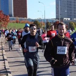 """Vilnius 10 km run, """"Run with Živilė Balčiūnaitė"""". - Audrius Matikiūnas (106), Artūras Bendorius (2046)"""