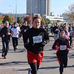 """Vilnius 10 km run, """"Run with Živilė Balčiūnaitė"""". - Aida Zagrapskaitė (251), Žilvinas Janukėnas (2619)"""