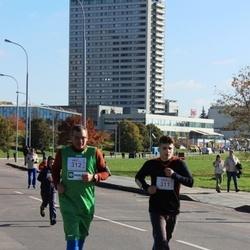 """Vilnius 10 km run, """"Run with Živilė Balčiūnaitė"""". - Justinas Pekarskas (311), Žilvinas Pekarskas (312)"""
