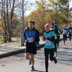 """Vilnius 10 km run, """"Run with Živilė Balčiūnaitė"""". - Kristina Šerkšnaitė (2155), Justinas Albrikas (2159)"""