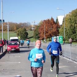 """Vilnius 10 km run, """"Run with Živilė Balčiūnaitė"""". - Iryna Karpikava (169), Aurimas Kalinka (2369)"""