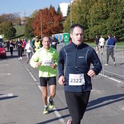 """Vilnius 10 km run, """"Run with Živilė Balčiūnaitė"""". - Mantas Gudelionis (2322), Juozas Songaila (2359)"""