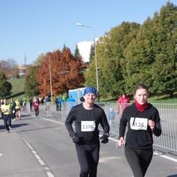 """Vilnius 10 km run, """"Run with Živilė Balčiūnaitė"""". - Birutė Skrockienė (2136), Olegas Kairys (2376)"""
