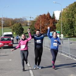 """Vilnius 10 km run, """"Run with Živilė Balčiūnaitė"""". - Tautvydas Valkevičius (2533), Elena Skurdelytė (2536), Agnė Taučiūtė (2537)"""
