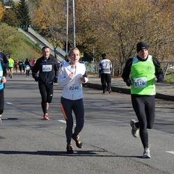 """Vilnius 10 km run, """"Run with Živilė Balčiūnaitė"""". - Osvaldas Žurauskas (2176), Dovilė Limbaitė (2240), Egidijus Jasulaitis (2335), Arnita Pečeliūnaitė (2450)"""