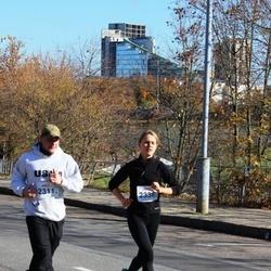 """Vilnius 10 km run, """"Run with Živilė Balčiūnaitė"""". - Justinas Zenkevičius (2311), Ieva Motūzaitė (2336)"""