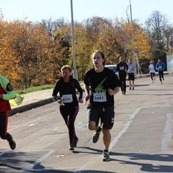 """Vilnius 10 km run, """"Run with Živilė Balčiūnaitė"""". - Dalia Švelnytė (2206), Dominykas Bolšakovas (2491)"""