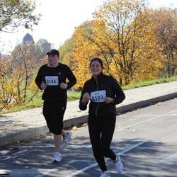 """Vilnius 10 km run, """"Run with Živilė Balčiūnaitė"""". - Renata Abromaviciute (2103), Mindaugas Gataveckas (2185)"""