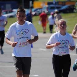 Olimpinės dienos bėgimas - PetkutėIndrė (4103), JakimciusAudrius (4152)