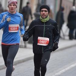 Perskindol kalėdinis bėgimas - Jevgenijus Galuška (201), Arnas Sirutis (407)