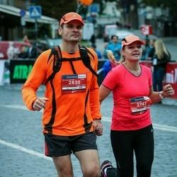 12th Danske Bank Vilnius Marathon - Evelina Pleterienė (2747), Remigijus Pleteras (2830)