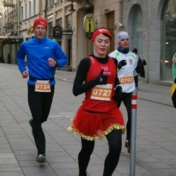 Vilnius Christmas Run - Arvydas Gervelė (724), Nadežda Roždestvenskaja (727)