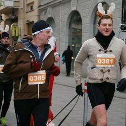 Vilnius Christmas Run - Armandas Rokas (381), Valdas Rokas (385)