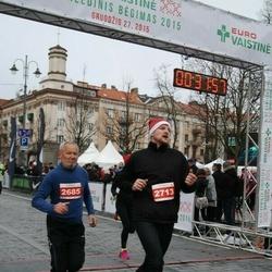 Vilnius Christmas Run - Vladas Šklenikas (2685), Karolis Samaitis (2713)