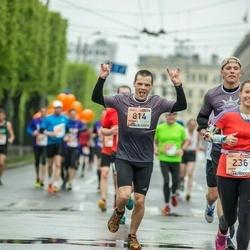 The 25th Lattelecom Riga marathon - Anete Bauere (236), Kaspars Ūdris (814)