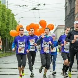 The 25th Lattelecom Riga marathon - Veli-Pekka Mäkelä (298), Tim Brown (784), Gatis Kveders (1433), Rimants Liepiņš (1782)