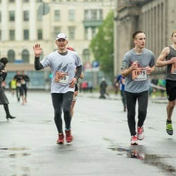 The 25th Lattelecom Riga marathon - Taimar Midenbritt (859), Vladislav Strzhelchik (1208), Modris Trūlis (1675)
