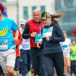 The 25th Lattelecom Riga marathon - Andis Andersons (7404), Ilva Sinkēviča (10730)