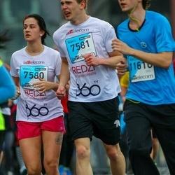 The 25th Lattelecom Riga marathon - Evija Gutāne (7580), Guntis Šusts (7581)