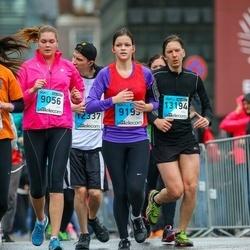 The 25th Lattelecom Riga marathon - Evija Valdovska (9056), Sandra Cipkina (9193), Miķelis Zaļais (13194)