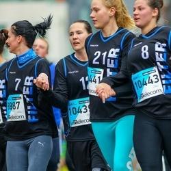 The 25th Lattelecom Riga marathon - Annija Grosberga (8987), Linda Sarja (10439), Laine Karlsone (10441), Elza Gribuste (10443)