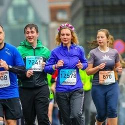 The 25th Lattelecom Riga marathon - Alise Peniķe (670), Dmitry Palatnik (7241), Jelena Zhiber (12578)