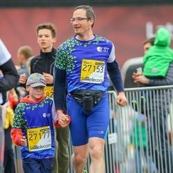 The 25th Lattelecom Riga marathon - Dzintars Breške (27153), Aleksis Breške (27177)