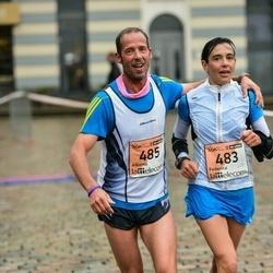 The 25th Lattelecom Riga marathon - Federica Favre (483), Alberto Commod (485)