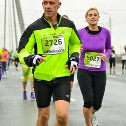 The 25th Lattelecom Riga marathon - Ainars Krauklis (2726), Elēna Vadone (5027)