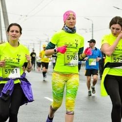 The 25th Lattelecom Riga marathon - Alīna Semka (5760), Mariana Fedorjana (5761)