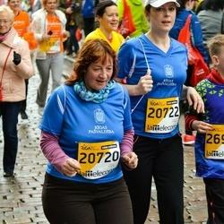 The 25th Lattelecom Riga marathon - Aija Brokāne (20720), Edīte Čipaite (20722)