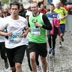 The 25th Lattelecom Riga marathon - Niks Bērziņš (10878), Aigars Kaļvans (12086)