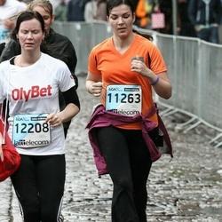 The 25th Lattelecom Riga marathon - Sanita Deksne (11263), Sandija Pundiņa (12208)